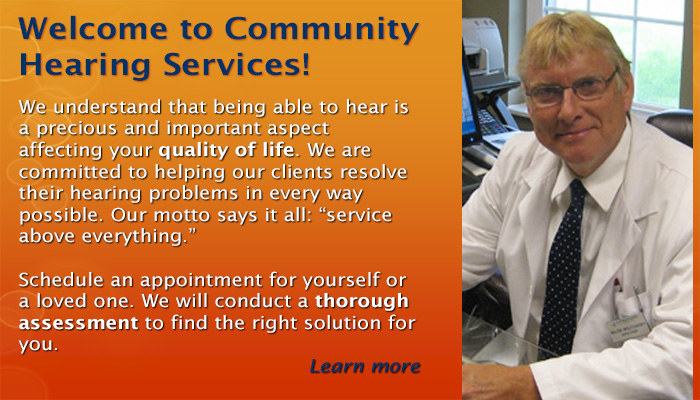 Welcome to Community Hearing Services!
